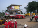 Move of a monumental petrol station